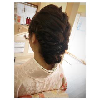 編み込み ルーズ ナチュラル セミロング ヘアスタイルや髪型の写真・画像