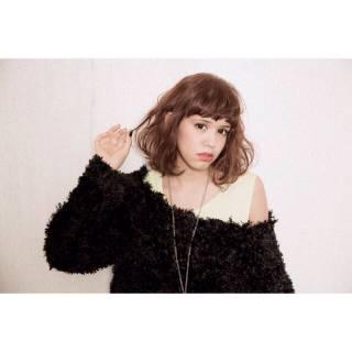 ミディアム 春 パーマ 外国人風 ヘアスタイルや髪型の写真・画像