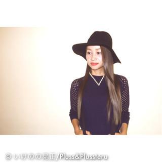 ストレート 黒髪 ロング モード ヘアスタイルや髪型の写真・画像