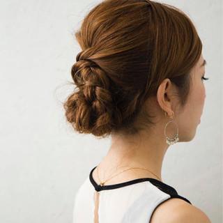 ショート セミロング 大人女子 結婚式 ヘアスタイルや髪型の写真・画像