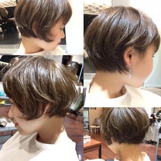 春 ショート ガーリー 大人かわいい ヘアスタイルや髪型の写真・画像