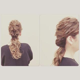 ゆるふわ ロング 波ウェーブ ヘアアレンジ ヘアスタイルや髪型の写真・画像