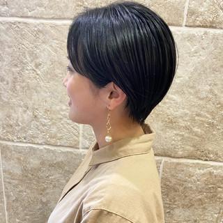ショートヘア ショート 耳掛けショート 大人ショート ヘアスタイルや髪型の写真・画像