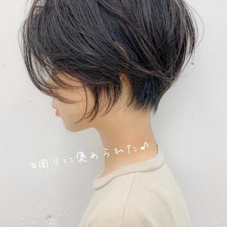 ショートボブ ミニボブ 大人ショート 小顔ショート ヘアスタイルや髪型の写真・画像