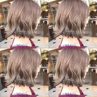 グラデーションカラー 大人かわいい 外ハネ ガーリー ヘアスタイルや髪型の写真・画像