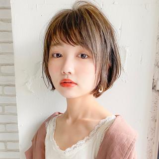 ひし形シルエット ショートボブ ショートヘア 小顔ショート ヘアスタイルや髪型の写真・画像