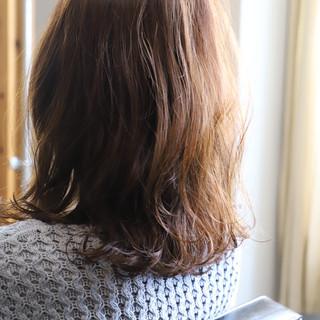 ふんわり 可愛い セミロング 大人可愛い ヘアスタイルや髪型の写真・画像