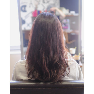 イルミナカラー ピンク セミロング 透明感 ヘアスタイルや髪型の写真・画像