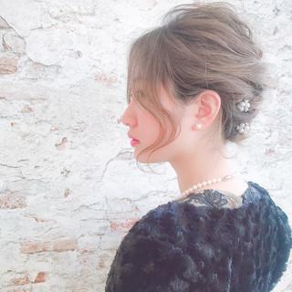 簡単ヘアアレンジ ボブ フェミニン モテ髪 ヘアスタイルや髪型の写真・画像