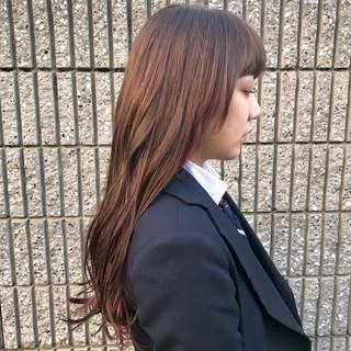 ロング ラベンダーピンク 透明感カラー インナーカラー ヘアスタイルや髪型の写真・画像