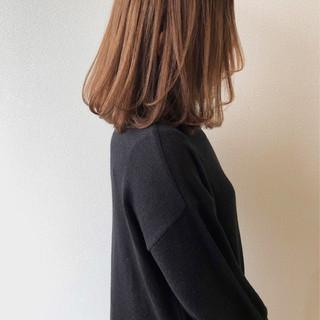 ハイトーンカラー ハイトーンボブ 秋冬スタイル ロブ ヘアスタイルや髪型の写真・画像
