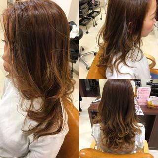 セミロング 外国人風カラー ハイライト 外国人風 ヘアスタイルや髪型の写真・画像