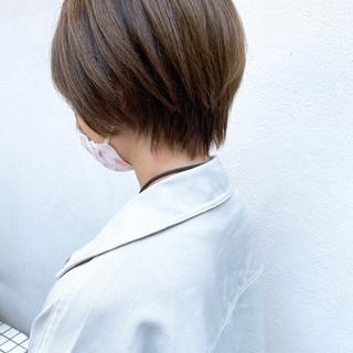 ベリーショート ナチュラル ショートボブ ミニボブ ヘアスタイルや髪型の写真・画像
