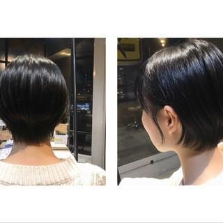 oggiotto ショートボブ 大人ショート ナチュラル ヘアスタイルや髪型の写真・画像