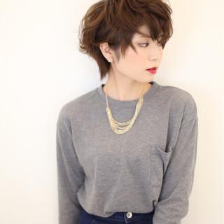 個性的 ショート ガーリー 大人女子 ヘアスタイルや髪型の写真・画像