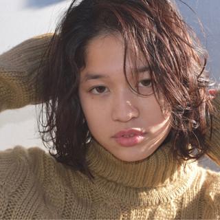 大人女子 黒髪 ニュアンス センターパート ヘアスタイルや髪型の写真・画像 ヘアスタイルや髪型の写真・画像