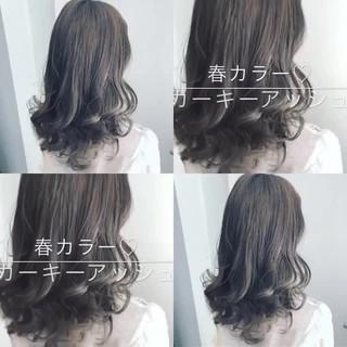 透明感 ナチュラル セミロング 渋谷系 ヘアスタイルや髪型の写真・画像