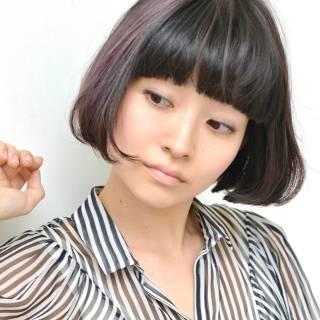 モード ワンカール 大人かわいい ストレート ヘアスタイルや髪型の写真・画像
