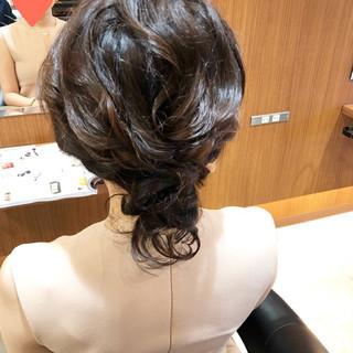 デート 結婚式 セミロング 二次会 ヘアスタイルや髪型の写真・画像
