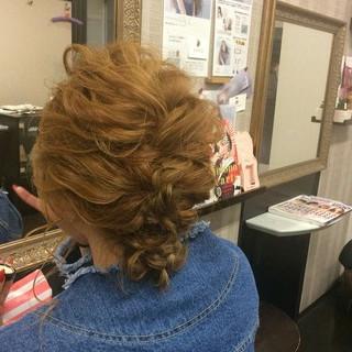 エレガント ヘアアレンジ セミロング 結婚式 ヘアスタイルや髪型の写真・画像 ヘアスタイルや髪型の写真・画像