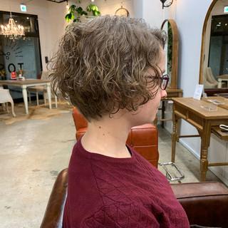 ゆるふわ ハンサムショート ショート ヘアアレンジ ヘアスタイルや髪型の写真・画像