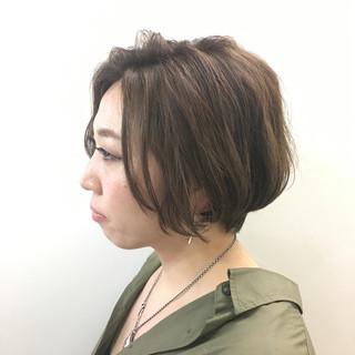 ボブ ハイライト 小顔 大人女子 ヘアスタイルや髪型の写真・画像