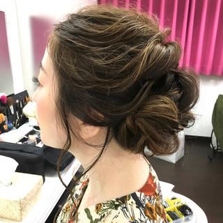 ふんわり 結婚式  フェミニン ヘアスタイルや髪型の写真・画像
