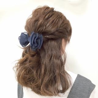 ゆるふわ モテ髪 ヘアアレンジ 愛され ヘアスタイルや髪型の写真・画像