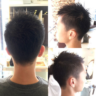 ボーイッシュ ショート 黒髪 刈り上げ ヘアスタイルや髪型の写真・画像