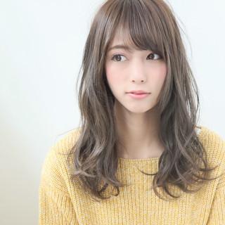 透明感カラー ナチュラル セミロング 外国人風カラー ヘアスタイルや髪型の写真・画像