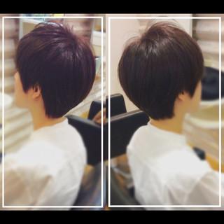 髪質改善カラー ベリーショート ショート デザインカラー ヘアスタイルや髪型の写真・画像