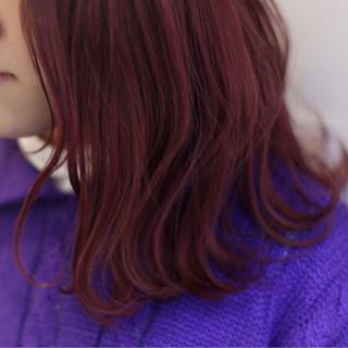 波ウェーブ ガーリー ピンク バレンタイン ヘアスタイルや髪型の写真・画像