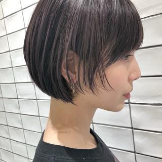 ストリート 小顔ヘア パープルカラー パープル ヘアスタイルや髪型の写真・画像