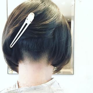 大人女子 ボブ 外国人風 ストレート ヘアスタイルや髪型の写真・画像