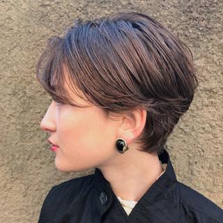 ナチュラル 抜け感 ショートボブ パーマ ヘアスタイルや髪型の写真・画像 ヘアスタイルや髪型の写真・画像