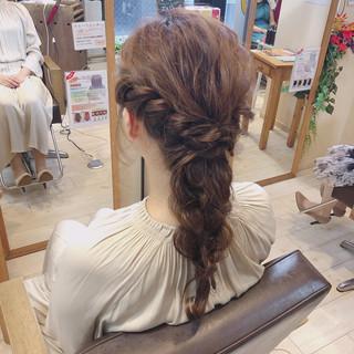 結婚式ヘアアレンジ ロング ナチュラル 大人可愛い ヘアスタイルや髪型の写真・画像