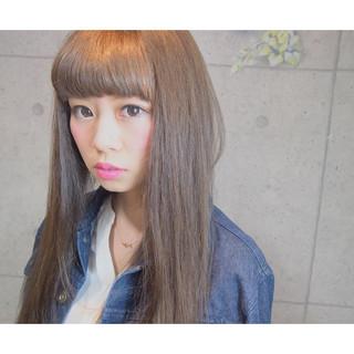レイヤーカット ゆるふわ ロング フェミニン ヘアスタイルや髪型の写真・画像
