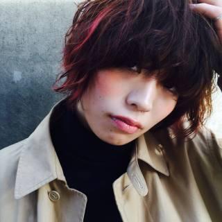 秋 ストリート レッド 冬 ヘアスタイルや髪型の写真・画像