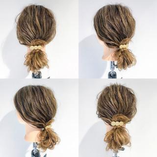 ショート オフィス リラックス 簡単ヘアアレンジ ヘアスタイルや髪型の写真・画像