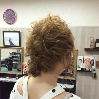 ナチュラル 和装 セミロング 編み込み ヘアスタイルや髪型の写真・画像