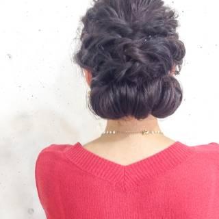 アップスタイル ストリート 結婚式 編み込み ヘアスタイルや髪型の写真・画像 ヘアスタイルや髪型の写真・画像