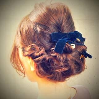 編み込み モテ髪 コンサバ 愛され ヘアスタイルや髪型の写真・画像
