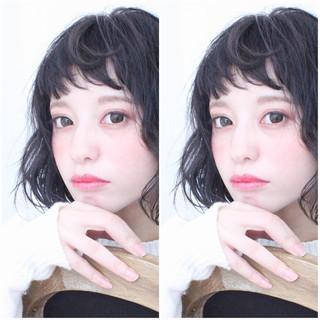アッシュ 外国人風 黒髪 ナチュラル ヘアスタイルや髪型の写真・画像