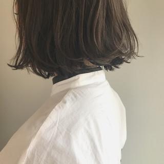 ボブ 透明感 黒髪 アッシュ ヘアスタイルや髪型の写真・画像