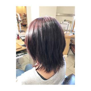 艶髪 ミディアム 秋 フェミニン ヘアスタイルや髪型の写真・画像 ヘアスタイルや髪型の写真・画像