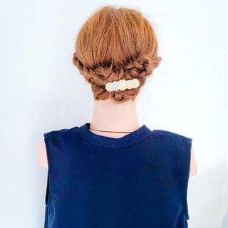 簡単ヘアアレンジ ロング 結婚式 夏 ヘアスタイルや髪型の写真・画像