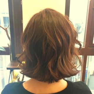 透明感 ストリート 春 ボブ ヘアスタイルや髪型の写真・画像