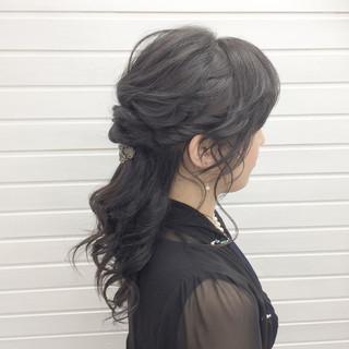 結婚式 エレガント 上品 成人式 ヘアスタイルや髪型の写真・画像