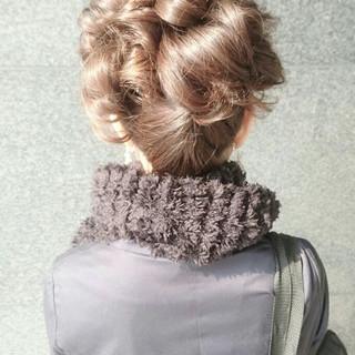 ヘアアレンジ ナチュラル ハーフアップ ゆるふわ ヘアスタイルや髪型の写真・画像