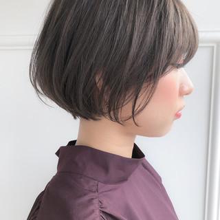 ショート 透明感カラー 似合わせカット ナチュラル ヘアスタイルや髪型の写真・画像